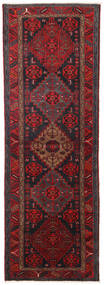 Hamadan Sag 104X309 Autentični  Orijentalni Ručno Uzlan Staza Za Hodnik  Tamnocrvena/Crna (Vuna, Perzija/Iran)