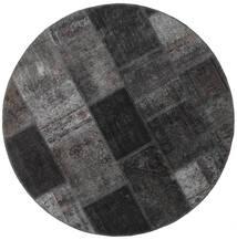 Patchwork - Persien/Iran Sag Ø 150 Autentični  Moderni Ručno Uzlan Okrugli Tamnosiva/Crna (Vuna, Perzija/Iran)