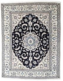 Nain Sag 196X253 Autentični  Orijentalni Ručno Uzlan Svjetlosiva/Tamnosiva (Vuna, Perzija/Iran)