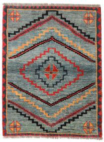 Gabbeh Rustic Sag 112X148 Autentični Moderni Ručno Uzlan Svjetlosiva/Zelena (Vuna, Perzija/Iran)