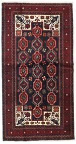 Beluch Sag 105X203 Autentični Orijentalni Ručno Uzlan Tamnocrvena (Vuna, Perzija/Iran)