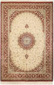Ghom Svila Sag 132X201 Autentični  Orijentalni Ručno Uzlan Bež/Svjetlosmeđa (Svila, Perzija/Iran)