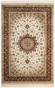 Ghom Svila Sag 132X197 Autentični  Orijentalni Ručno Uzlan Bež/Smeđa (Svila, Perzija/Iran)