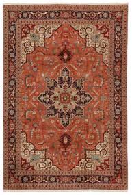 Tabriz 50 Raj Sag 203X304 Autentični Orijentalni Ručno Uzlan Tamnosmeđa/Grimizno Crvena (Vuna/Svila, Perzija/Iran)