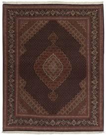 Tabriz 50 Raj Sag 158X200 Autentični Orijentalni Ručno Uzlan Crna/Tamnosmeđa (Vuna/Svila, Perzija/Iran)