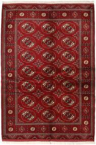 Turkaman Sag 136X200 Autentični Orijentalni Ručno Uzlan Tamnocrvena/Grimizno Crvena (Vuna, Perzija/Iran)