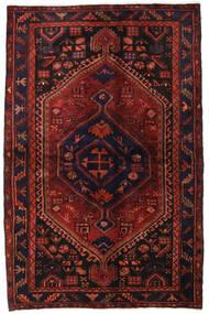 Hamadan Sag 138X214 Autentični Orijentalni Ručno Uzlan Tamnocrvena/Tamnosmeđa (Vuna, Perzija/Iran)