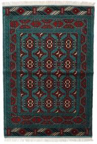 Turkaman Sag 105X150 Autentični Orijentalni Ručno Uzlan Crna/Tamna Tirkizna (Vuna, Perzija/Iran)