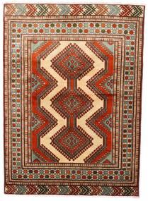 Turkaman Sag 125X172 Autentični Orijentalni Ručno Uzlan Tamnocrvena/Tamnosmeđa (Vuna, Perzija/Iran)