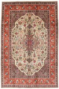 Tabriz Sag 194X288 Autentični  Orijentalni Ručno Uzlan Tamnosmeđa/Svjetlosmeđa (Vuna, Perzija/Iran)