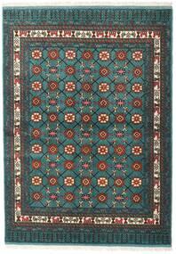 Turkaman Sag 136X187 Autentični Orijentalni Ručno Uzlan Tamna Tirkizna /Tamnosiva (Vuna, Perzija/Iran)