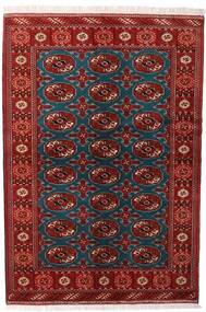 Turkaman Sag 132X195 Autentični Orijentalni Ručno Uzlan Tamnocrvena/Crna (Vuna, Perzija/Iran)