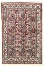 Moud Sag 98X150 Autentični Orijentalni Ručno Uzlan Bež/Svjetlosiva (Vuna/Svila, Perzija/Iran)
