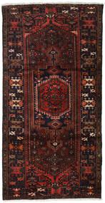 Hamadan Sag 109X210 Autentični  Orijentalni Ručno Uzlan Tamnosmeđa/Tamnocrvena (Vuna, Perzija/Iran)