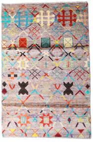 Moroccan Berber - Afghanistan Sag 119X177 Autentični  Moderni Ručno Uzlan Bež/Tamnosiva (Vuna, Afganistan)