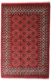 Turkaman Sag 137X206 Autentični Orijentalni Ručno Uzlan Tamnocrvena/Tamnosiva (Vuna, Perzija/Iran)