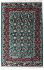 Turkaman Sag 140X208 Autentični Orijentalni Ručno Uzlan Crna/Tamnozelena (Vuna, Perzija/Iran)