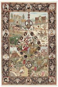 Tabriz 50 Raj Sag 150X219 Autentični Orijentalni Ručno Uzlan Smeđa/Svjetlosmeđa (Vuna/Svila, Perzija/Iran)