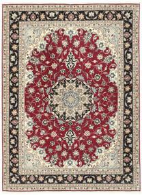 Tabriz 50 Raj Sag 152X205 Autentični Orijentalni Ručno Uzlan Svjetlosiva/Bež (Vuna/Svila, Perzija/Iran)