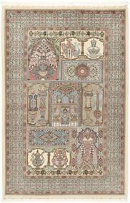 Ilam Sherkat Farsh Svila Sag 148X223 Autentični Orijentalni Ručno Uzlan Svjetlosiva/Bež (Vuna/Svila, Perzija/Iran)