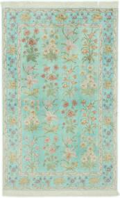 Ghom Svila Sag 102X160 Autentični Orijentalni Ručno Uzlan Pastelno Zelena/Svjetlosiva (Svila, Perzija/Iran)