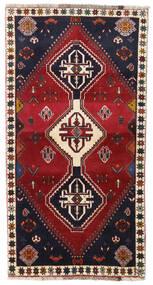 Qashqai Sag 98X185 Autentični  Orijentalni Ručno Uzlan Tamnocrvena/Crna (Vuna, Perzija/Iran)