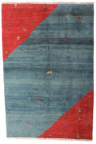 Gabbeh Rustic Sag 203X305 Autentični Moderni Ručno Uzlan Plava/Hrđavo Crvena (Vuna, Perzija/Iran)