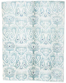Sari Čista Svila Sag 153X200 Autentični Moderni Ručno Uzlan Bijela/Krem/Svjetloplava (Svila, Indija)