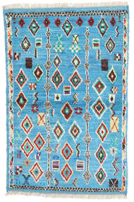 Moroccan Berber - Afghanistan Sag 88X132 Autentični  Moderni Ručno Uzlan Tirkizno Plava/Bež (Vuna, Afganistan)