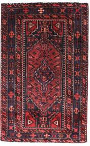 Hamadan Sag 90X140 Autentični Orijentalni Ručno Uzlan Crna/Tamnocrvena (Vuna, Perzija/Iran)