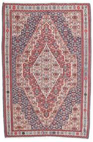 Ćilim Senneh Sag 148X225 Autentični Orijentalni Ručno Tkani Tamnosiva/Svjetlosiva (Vuna, Perzija/Iran)