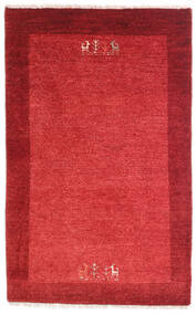 Loribaft Persia Sag 79X128 Autentični  Moderni Ručno Uzlan Grimizno Crvena/Hrđavo Crvena (Vuna, Perzija/Iran)