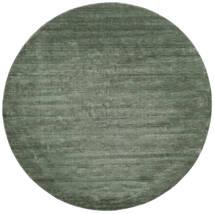 Handloom - Šumsko Zelena Sag Ø 250 Moderni Okrugli Tamnozelena/Svjetlozelena Veliki (Vuna, Indija)