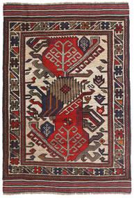 Ćilim Golbarjasta Sag 100X140 Autentični Orijentalni Ručno Tkani Tamnosmeđa/Tamnocrvena (Vuna, Afganistan)