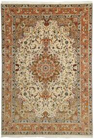Tabriz 50 Raj Sag 253X358 Autentični Orijentalni Ručno Uzlan Smeđa/Svjetlosmeđa/Tamna Bež Veliki (Vuna/Svila, Perzija/Iran)
