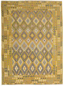 Ćilim Afghan Old Style Sag 255X358 Autentični  Orijentalni Ručno Tkani Žuta/Svjetlosmeđa Veliki (Vuna, Afganistan)