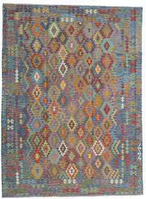 Ćilim Afghan Old Style Sag 256X351 Autentični  Orijentalni Ručno Tkani Svjetlosiva/Svjetlosmeđa Veliki (Vuna, Afganistan)