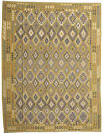 Ćilim Afghan Old Style Sag 298X389 Autentični  Orijentalni Ručno Tkani Maslinasto Zelena/Tamnosiva Veliki (Vuna, Afganistan)