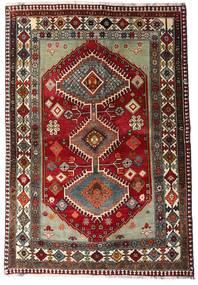 Qashqai Sag 136X197 Autentični  Orijentalni Ručno Uzlan Tamnocrvena/Tamnosiva (Vuna, Perzija/Iran)
