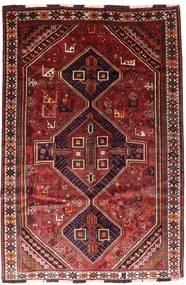 Shiraz Sag 166X246 Autentični  Orijentalni Ručno Uzlan Tamnocrvena/Hrđavo Crvena (Vuna, Perzija/Iran)