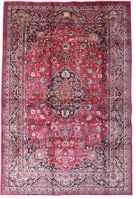 Mashad Sag 198X290 Autentični  Orijentalni Ručno Uzlan Tamnoljubičasta/Svjetloružičasta (Vuna, Perzija/Iran)