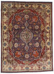 Kashmar Sag 294X396 Autentični  Orijentalni Ručno Uzlan Tamnocrvena/Tamnosmeđa/Svjetlosmeđa Veliki (Vuna, Perzija/Iran)