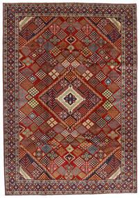 Hamadan Sag 215X308 Autentični Orijentalni Ručno Uzlan Tamnocrvena/Tamnosmeđa (Vuna, Perzija/Iran)