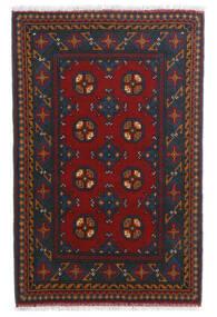 Afghan Sag 80X123 Autentični  Orijentalni Ručno Uzlan Tamnocrvena/Tamnoplava (Vuna, Afganistan)
