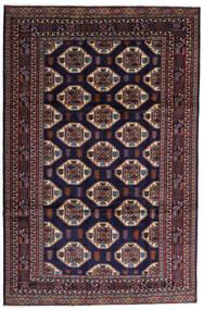 Turkaman Sag 247X378 Autentični Orijentalni Ručno Uzlan Tamnoljubičasta/Tamnosmeđa (Vuna, Perzija/Iran)