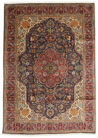 Tabriz Sag 200X280 Autentični  Orijentalni Ručno Uzlan Tamnosmeđa/Svjetlosmeđa (Vuna, Perzija/Iran)