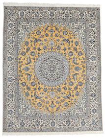 Nain 9La Sag 200X253 Autentični  Orijentalni Ručno Uzlan Svjetlosiva/Tamnosiva (Vuna/Svila, Perzija/Iran)