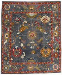 Kazak Sag 249X297 Autentični Orijentalni Ručno Uzlan Tamnosiva/Crna (Vuna, Afganistan)