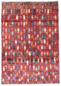 Moroccan Berber - Afghanistan Sag 115X169 Autentični  Moderni Ručno Uzlan Tamnocrvena/Hrđavo Crvena (Vuna, Afganistan)