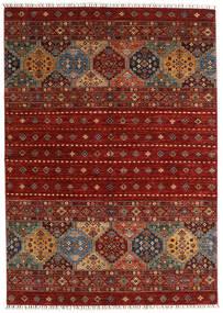 Shabargan Sag 173X244 Autentični  Moderni Ručno Uzlan Tamnocrvena/Grimizno Crvena (Vuna, Afganistan)